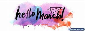 Hello March Pastel seasonal Facebook Cover