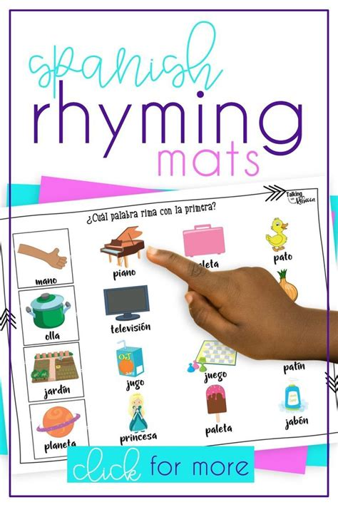 las rimas spanish speech therapy rhyming words activities