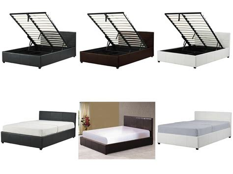 small ottoman storage beds 4ft small ottoman storage bed black brown white