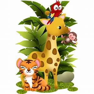 Stickers Animaux De La Jungle : stickers collection jungle animaux de la jungle 2 stickers malin ~ Mglfilm.com Idées de Décoration