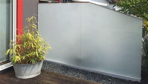 Sichtschutz Garten Milchglas by Glaszaun F 252 R Garten Und Terrasse Glasprofi24