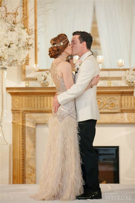 The Bride Wore a Daisy Buchanan Inspired Look at this '20s