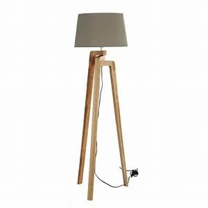 Lampadaire Maison Du Monde : lampadaire tr pied en bois et coton h 150 cm nordic ~ Premium-room.com Idées de Décoration