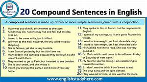 20 Compound Sentences In English