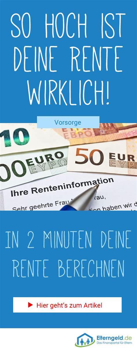 rentenrechner   minuten rente berechnen geld