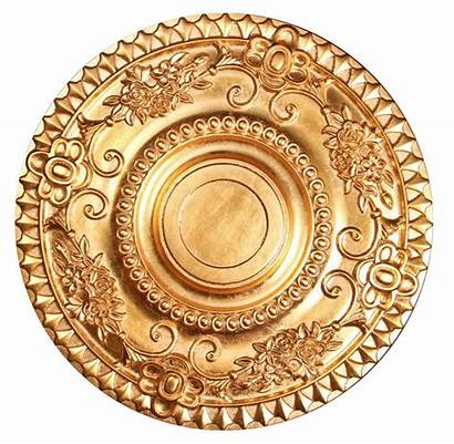 Ceiling Medallion Decorative Gold Polyurethane Fdc Gf