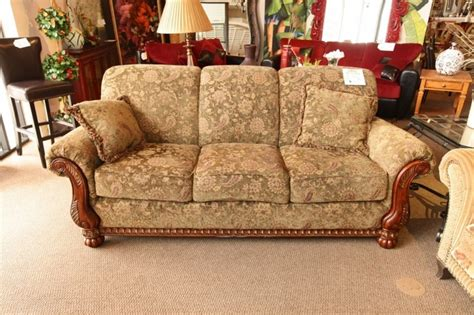 paisley sofa with wood details home decor design
