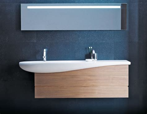 contemporary wall hung ceramic bathroom sink  drawers ream