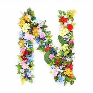 letters of leaves and flowers stock image image of With fresh flower letters