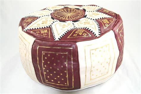 pouf en cuir marocain pouf marocain