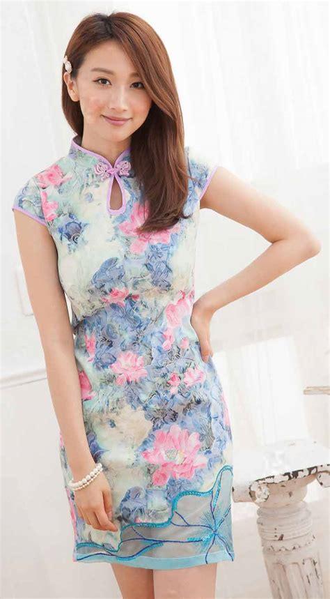 baju cheongsam wanita modern import murah model terbaru