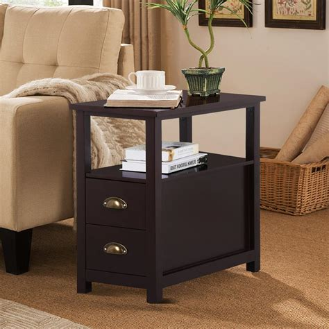 bedroom end table ls unique end tables with storage drawers table side drawers