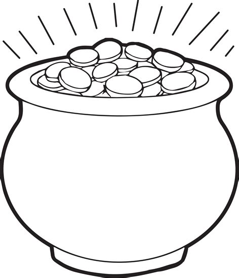 pot of gold template pot of gold coloring page 1 coloring pages for free printable saints and big
