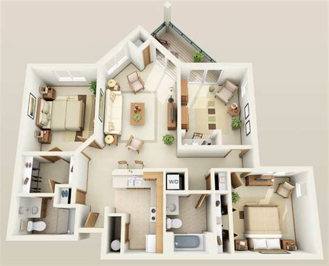 Luxury Apartment Floor Plans 3 Bedroom Apartments Floor Plans 3 Bedrooms Buybrinkhomes