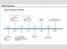 How to Create a Production Timeline in OneNote Horizontal
