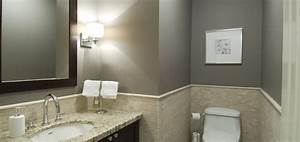 bathrooms with gray walls contemporary bathroom With what kind of paint to use on kitchen cabinets for men s bathroom wall art