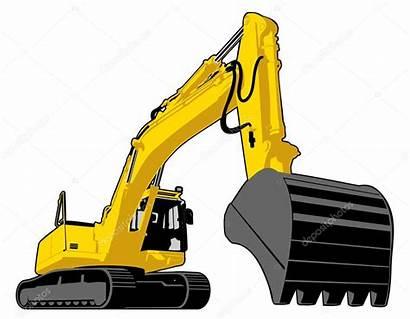 Excavator Yellow Illustration Vector Depositphotos