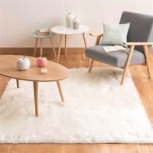 Tapis Scandinave Maison Du Monde : tapis en fausse fourrure blanc 160 x 230 cm oumka ~ Teatrodelosmanantiales.com Idées de Décoration