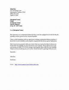 labourer cover letter sample guamreviewcom With cover letter for laborer position
