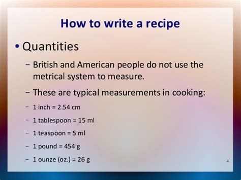 How To Write A by How To Write A Recipe