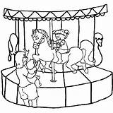 Coloring Pages Carnival Carousel Park Amusement Ride Kid Colouring Roller Coaster Want Costume Drawing Miscellaneous Freddy Printable Games Getcolorings sketch template