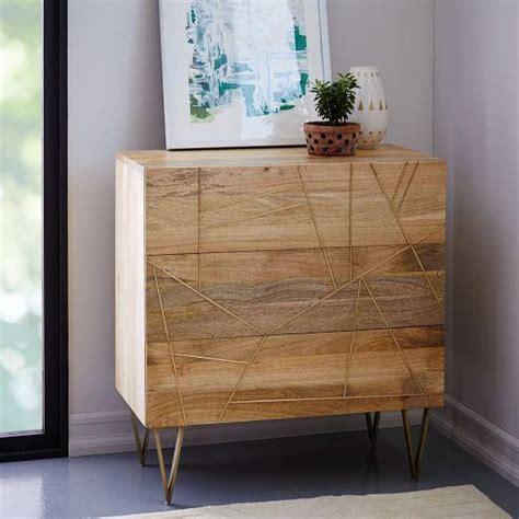roar  rabbit brass  brown geo inlay  drawer dresser