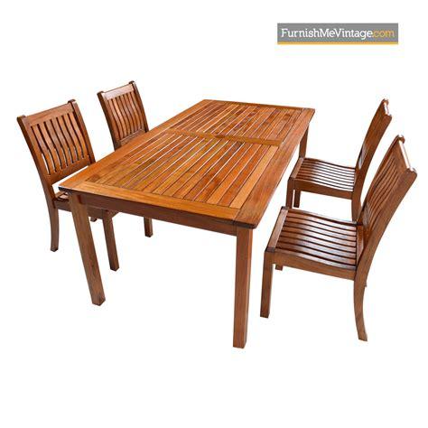 restoration hardware solid teak outdoor dining table