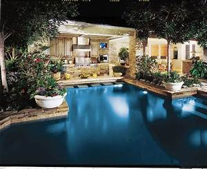 Awesome outdoor kitchen pool area outdoors inspiration for Pool and outdoor kitchen designs