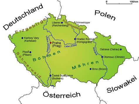 Karte Deutschland Tschechien