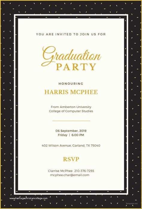 Free Graduation Invitation Templates for Word Of 19