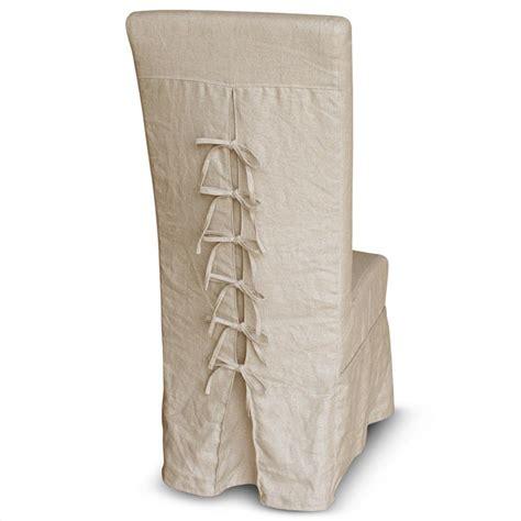 corset back country ecru linen slipcover dining