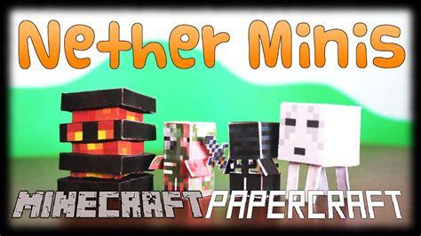 Diy Minecraft Papercraft Nether Theme Set (2/2)