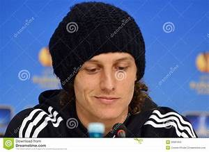David Luiz Of Chelsea Press Conference Editorial Stock ...