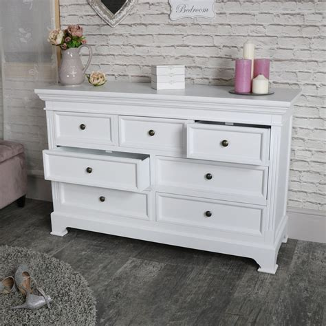 oversized chest of drawers large white 7 drawer chest of drawers daventry white