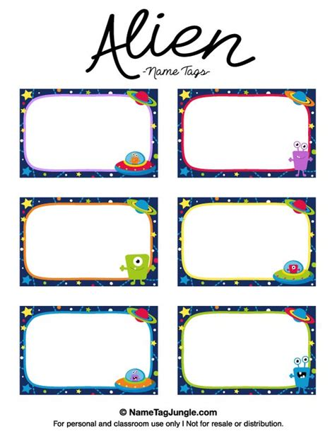 best 25 name tag templates ideas on name 349   517b53570e4129c1f2c0b9377fa333af space name tags space printables