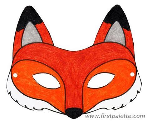 fox mask    printable animal masks printable