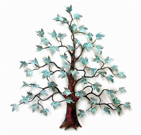 Tree Wall Decor Metal by Wall Magnificent Maple Tree Metal Wall Sculpture
