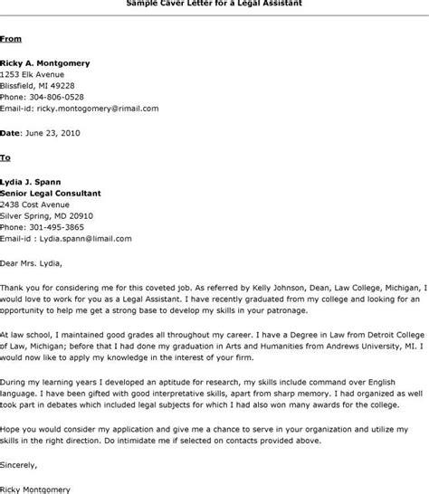 Legal Assistant Resume Cover Letter Legal Assistant Cover Letter