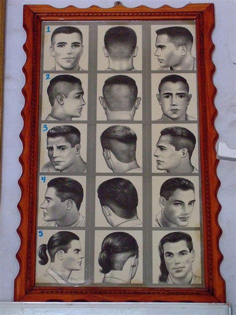 barber shop hairstyle chart instruct pinterest