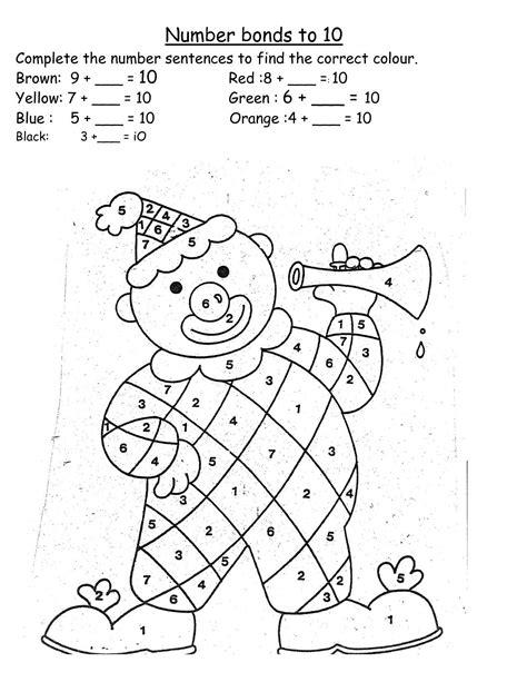 math worksheets  grade  addition number bonds