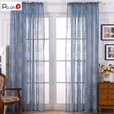american style linen burnout curtains tulle scenic