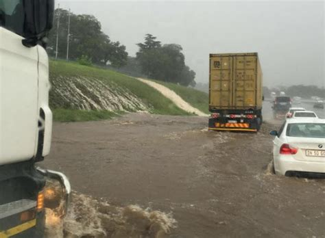 intelligence bureau sa motorists get stuck in a flood at gilloolys interchange