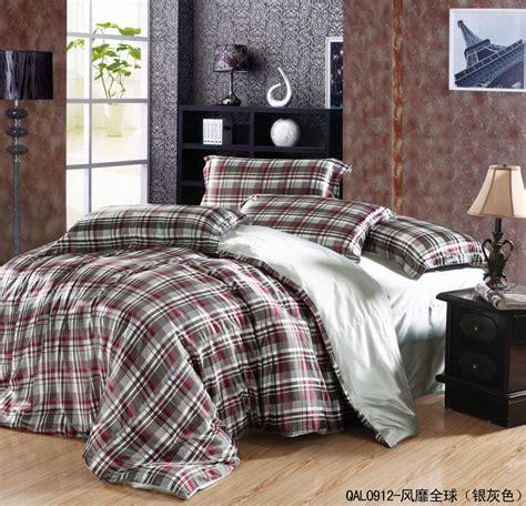 luxury grey plait mulberry silk bedding comforter set for