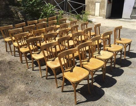 chaise bistrot occasion lot 30 chaises bistrot baumann ées 60