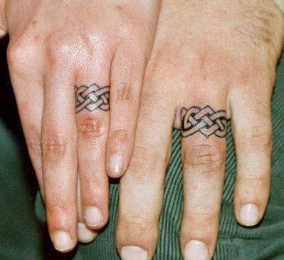 couple ring finger tattoo blurmark