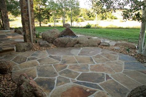 build flagstone patio decoration flagstone patio for a look decorifusta flagstone