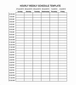 24 hourly schedule printable calendar template 2016 With 24 hour time chart template