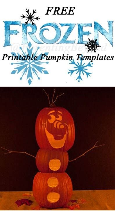 frozen pumpkin carving halloween templates