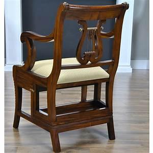 Mahogany, Library, Chair, Niagara, Furniture, Lyre, Back, Chair