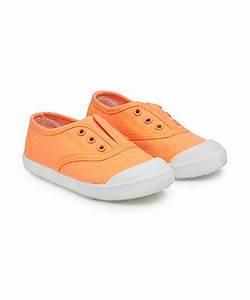 Neon Orange Canvas Shoes sport & canvas Mothercare